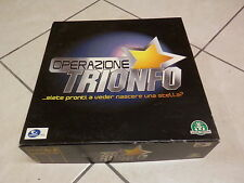 Vecchio gioco da tavolo OPERAZIONE TRIONFO Giochi Preziosi Endemol società music