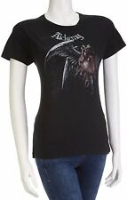Alchemy Ladies T Shirt Official Gothic Root of All Evil Skinny Fit Black Large