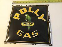 Vintage Polly Gas & Oil Porcelain Sign Gas & Oil
