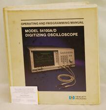 HP54100A/D Digitizing Oscilloscope Operating & Programming Manual 1986 Edition
