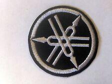 Iron On/ Sew On Embroidered Patch Badge Yam Bike Motorbike Circle Logo Black