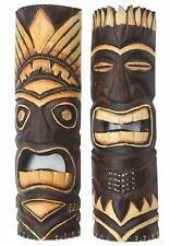2 Tiki Masks 50cm Hawaii Wooden Masks Mask Wall Mask Wall Masks Maui