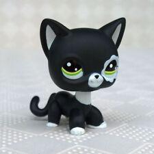 Littlest Pet Shop LPS Toys #2249 Short Hair Cat White Black Kitty For Kids Gifts