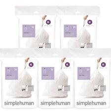 Simplehuman cubo los trazadores de líneas 100, Código K (35-45 litro), 5 paquetes de 20