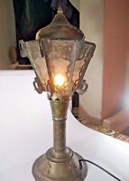 1900's Unique Brass Hand Crafted Table Night Lamp Desktop decor Lightning India
