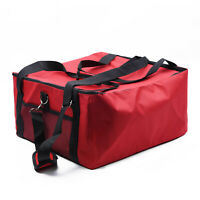 """Red Pizza Food Delivery Oxford Bag Thermal Insulatedholds 2 16"""" Pizzas"""