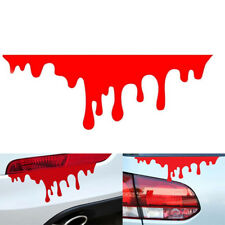 1PC car stickers red blood DIY vehicle body badge car styling stickers decal LU