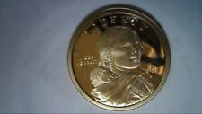 2003 S Proof Deep Cameo Native American Sacagawea Golden $1 Dollar, UNC