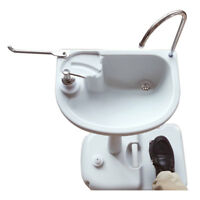 Camping Wash Basin Sink Removable Water Tank Faucet for Portable Tiolet White