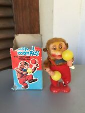 VINTAGE WIND UP TOYS#Clockwork MUSICAL MONKEY With Rattling Maracas