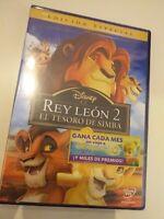 Dvd el REY LEON 2 EDICION ESPECIAL  (PRECINTADO nuevo)