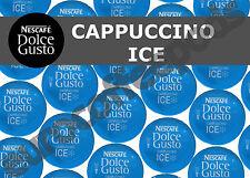 DOLCE Gusto Cappuccino Ice Capsule 100 CAPSULE CAFFE' 50/50 latte venduto Loose