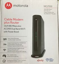 New Sealed Motorola MG7550 Cable Modem Plus DOCSIS 3.0 AC1900 Wi-Fi Router