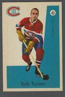 1959-60 Parkhurst Montreal Canadiens Hockey Card #43 Bob Turner