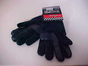 Isotoner Womens SmarTouch Navy Casual 'Warm and Comfy Gloves' One Size NEW