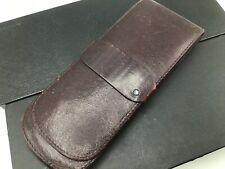 Montblanc 1980s Leather Bordeaux 3x Triple Meisterstuck Pen Holder Carrying Case