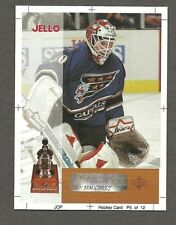1996-97 Kraft Jell-O Trophy Winners Proof, Capitals' Jim Carey - Vezina