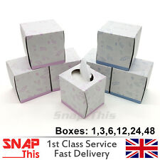 TISSUE BOXES CUBE ULTRA SOFT LUXURIOUS WHITE FACIAL FAMILY WIPE HAND PAPER 2PLY