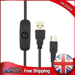 USB to Micro USB Charger Power Cable with On/Off Switch for Raspberry Pi