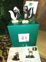 WDCC FLOWER, MISS SKUNK DISNEY BAMBI FIGURINES, KNOCKED FOR LOOP, WALKING ON AIR