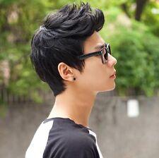 DIY Vogue Men Wig Handsome Korean Boys Short Hair Cosplay Male Full Wigs Black