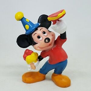Vintage Mickey Mouse Birthday Party Hat PVC Figure Disney Applause Cake Topper
