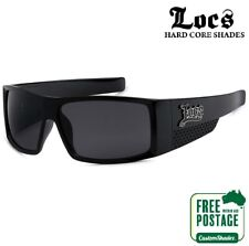 Locs Sunglasses - Large Wrap Around Frame - Gloss Finish - Free Postage In AUS