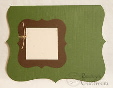 A2 Ivy Green Window Bracket Card Die Cuts with Bracket Frame 8 cards AccuCut