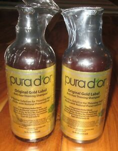 Pura D'Or Original Gold Label Anti-Hair Thinning Shampoo 16 fl oz x2