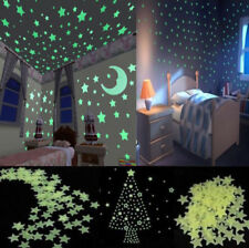 100pcs Home Wall Green Glow In The Dark Star Stickers Decal Baby Kids Room Decor