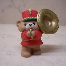 1991 Hallmark Merry Miniature Christmas Bear With Horn #1 in Music Maker Bears
