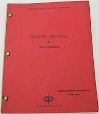 Doctor Dolittle *1967 Original Movie Script * Family Adventure Comedy Animal Dr.