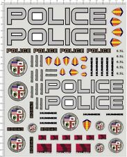 Self Adhesive Sticker  L.A 911 POLICE for 1/10 1/12 model kits  20102