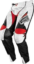 Answer Racing Alpha Air Pants White Red ATV MX Motorcycle Dirt bike 28