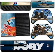 FINDING DORY  xbox one skins decals stickers + kinect + 2 controllers Game Two