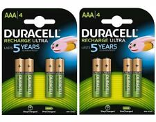 8 x Duracell AAA Ultra 900 mAh Rechargeable Batteries FREE DELIVERY