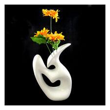1 Pc - 25CM White Ceramic Vase Wedding Gift Decor Flowers House Centrepiece (S)