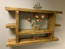 Cottage style reclaimed wood Rustic  SHELF WALL Vintage antique handmade Unit