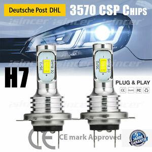 2x H7 Scheinwerfer Birnen Halogenlampen LED Auto Fern- Abblendlicht Canbus 6500K
