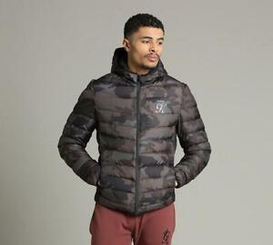 Mens Gym King Core Puffer Jacket Camo (PA1) RRP £89.99