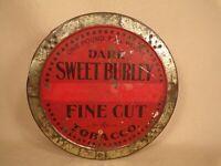 Antique Dark Sweet Burley Tobacco Tin Spaulding Merrick 1 Lb Chicago