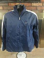 Vintage Nike Air Full Zip Windbreaker Warmup Jacket Coat Mens Size Medium Blue