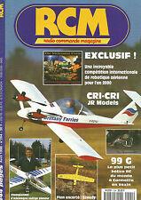 RCM N°204 PLAN : RACER 400 - SPEEDY / CRI-CRI JR MODELS / 99 G HELICO RC