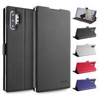Flip Case Samsung Note 10 Plus Magnet Cover Aufstellbar Ständer Schutzhülle Etui