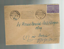 1945 Halle East Germany Sachsen cover to Berlin American Military Government