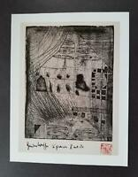 """Hundertwasser """"The House Looks At A Burning Man"""" Mounted Offset Lithograph 1986"""