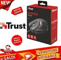 MOUSE TRUST GAMING 6 PULSANTI ILLUMINAZIONE LED DA GIOCO USB PRECISIONE 21512