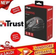 MOUSE TRUST GAMING 6 PULSANTI ILLUMINAZIONE LED DA GIOCO USB PRECISIONE 21512