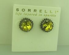 Sorrelli Lemonade Earrings ECN1ASLMD  antique silver tone