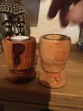 2 Handcrafted tea candle holders